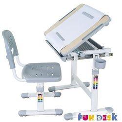 Fundesk Bambino grey - ergonomiczne, regulowane biurko dziecięce + krzesełko - złap rabat: kod30