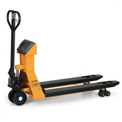 Wózek paletowy z wbudowaną wagą elektroniczną z możliwością cechowania i drukarką