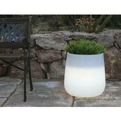 New garden donica camelia 40 c biała - led marki Sofa.pl