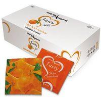Mandarynkowe prezerwatywy MoreAmore Condom Tasty Skin Mandarin 100 sztuk