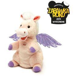 Pluszowa pacynka na rękę, przytulanka, Różowo-fioletowy Pegaz, 29949-, zabawa w teatrzyk, produkt marki Trudi
