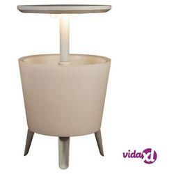 podświetlony stolik z chłodzącym barkiem, biały, 232924 marki Keter