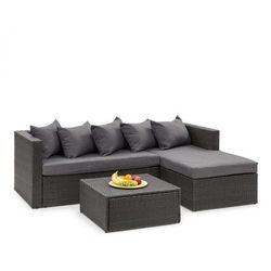 Blumfeldt theia lounge set komplet mebli ogrodowych, czarny/ciemnoszary (4060656193811)