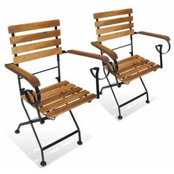 Składane krzesła tarasowe Dixter 2X - 2 szt.