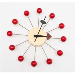 Zegar kulka czerwony modern house bogata chata marki D2.design