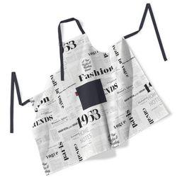 Dekoria  fartuch szefa kuchni męski, motyw gazety, 123x100 cm, freestyle