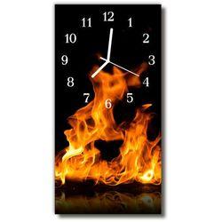Zegar Szklany Pionowy Ogień kominek płomień kolorowy, kolor wielokolorowy
