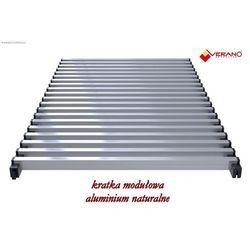 Kratka modułowa - 38/130 do grzejników vk15, aluminium naturalne o profilu zamkniętym marki Verano