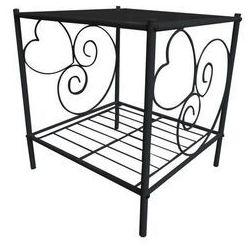 Vente-unique Romantyczny stolik nocny vivian 1 blat - metal - czarny