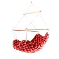 Fotel hamakowy, Czerwony KLARA - 38