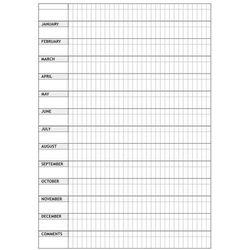 Tablica magnetyczna suchościeralna lean planer roczny 011 marki Wally - piękno dekoracji