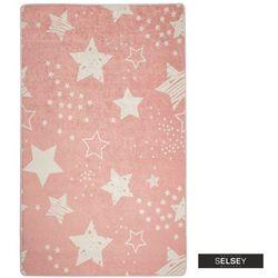 Selsey dywan do pokoju dziecięcego dinkley gwiazdy różowy 100x160 cm (5903025554938)
