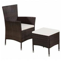 Fotel ogrodowy z podnóżkiem Felnar - brązowy