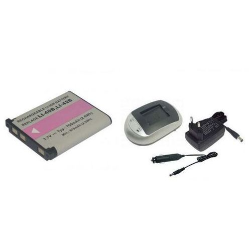 01. Zestaw 1 x bateria NP-45, EN-EL10, LI-42B + ładowarka - produkt z kategorii- akumulatory dedykowane