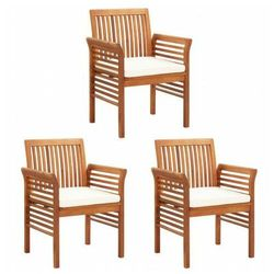 Krzesła ogrodowe akacjowe Kioto 3X - 3szt