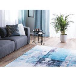 Dywan niebieski 140 x 200 cm krótkowłosy trabzon marki Beliani