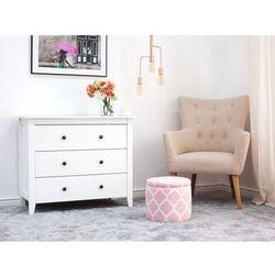 Pufa różowo-biała ze schowkiem TUNICA