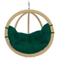 Fotel hamakowy drewniany, Zielony Globo chair green weatherproof