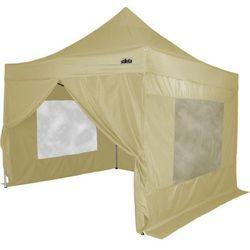 Namiot ogrodowy, party, STILISTA automatyczny 3x3m +4 ściany - kremowy beżowy