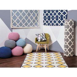 Dywan ciemnoniebieski - 160x230 cm - nowoczesny - handmade - ZILE (7105275247730)