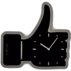 Zegar stołowy Nextime Thumbs Up czarny, kolor czarny