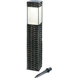 Solarna lampa, stojąca z ratanową obudową Esotec 102073, 1, LED wbudowany na stałe, 3500 K, (DxSxW) 9.5 x
