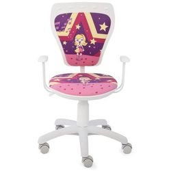 Obrotowe krzesło dziecięce MINISTYLE WHITE - Superstar