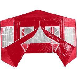 Mks Czerwony pawilon namiot ogrodowy handlowy 6 ścianek - czerwony (30030176)