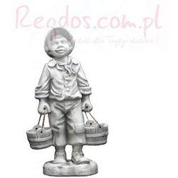 Figura ogrodowa betonowa chłopiec z wiadrami 76cm