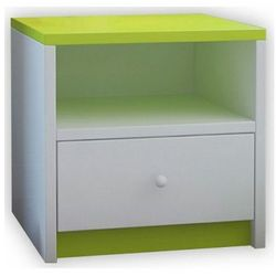 Dziecięca szafka nocna Happy 4X - zielona, Kocot-szafka-nocna-babydreams-zielona