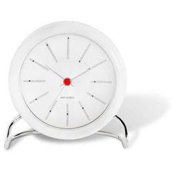 Zegar stołowy Arne Jacobsen Bankers biały, kolor biały