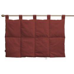 wezgłowie na szelkach, ciemno czerwony o wyraźnej strukturze, 90 x 67 cm, living marki Dekoria