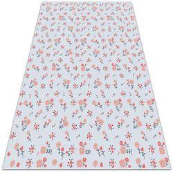 Modny uniwersalny dywan winylowy Modny uniwersalny dywan winylowy Wiejskie kwiatki