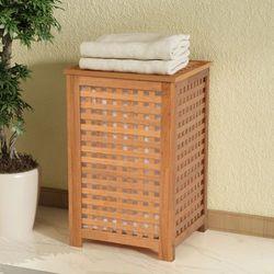 vidaXL Kosz na pranie z drewna orzechowego 39x39x65 cm (8718475994015)