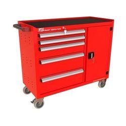 Wózek warsztatowy TRUCK z 5 szufladami i drzwiami PT-222-40, PT-222-40