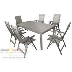 Hecht zestaw mebli ogrodowych stół + 6 krzeseł stone set