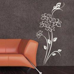 Wally - piękno dekoracji Szablon malarski kwiaty motyl 1236