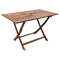 Rozkładany stół ogrodowy Amitia z drewna akacjowego