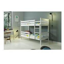 Łóżko piętrowe Karino białe 90x200 z materacami