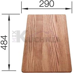 Deska BLANCO z drewna jesionowego 484x290mm (516085) (4020684470674)
