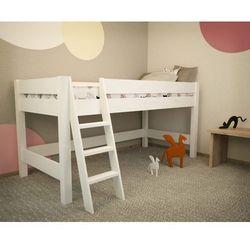 Białe łóżko piętrowe Lara F20