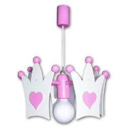 Waldi  abażur korona kolor biały/różowy (4003028301759)