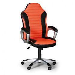 Fotel biurowy sport, czarno-pomarańczowy marki B2b partner