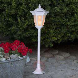 Lampa solarna led flame, 4 w 1, biała marki Best season