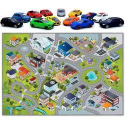 HOK Mata Dywanik Miasto Lotnisko 100x150 cm + 13 samochodów