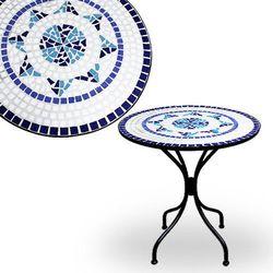 METALOWY STÓŁ STOLIK Z MOZAIKĄ OGRODOWY NA OGRÓD - produkt z kategorii- Krzesła ogrodowe