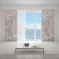 Zasłona okienna na wymiar - ROMANTIC FLORES