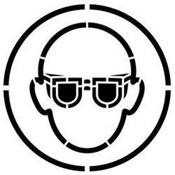 Szablon do malowania znak nakaz stosowania ochrony oczu go004 - 85x85 cm marki Szabloneria