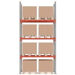 Aj produkty Regał paletowy ultimate, moduł podstawowy, 4000x1850x1100 mm, 8 palet, 1000kg/paleta