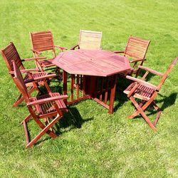 Meble ogrodowe liguria zestaw stół + fotele + miejsce na parasol marki Ogrody leandro